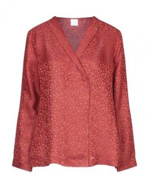 Блузка DES PETITS HAUTS. Цвет: кирпично-красный
