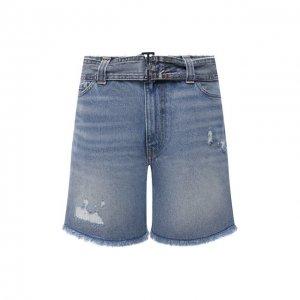 Джинсовые шорты Ganni. Цвет: синий