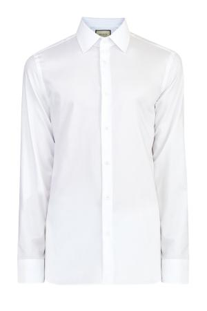 Классическая белая рубашка из хлопкового поплина GUCCI. Цвет: белый