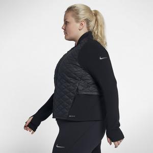 Женская беговая куртка AeroLayer (большие размеры) Nike. Цвет: черный