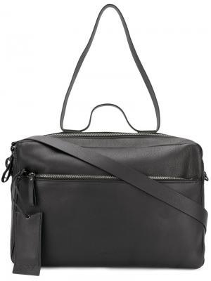Дорожная сумка с багажной биркой Marsèll. Цвет: черный