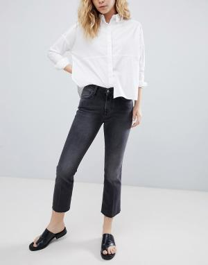 Укороченные расклешенные джинсы Bethnals Tilly-Черный