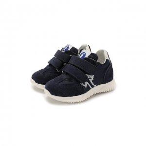 Замшевые кроссовки Walkey. Цвет: синий