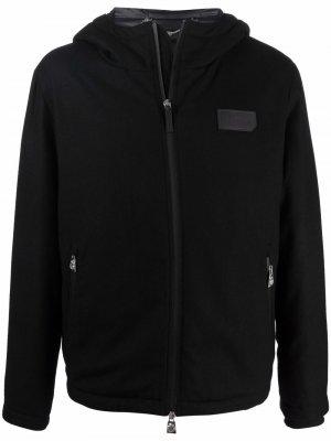 Куртка с капюшоном и нашивкой-логотипом Billionaire. Цвет: черный