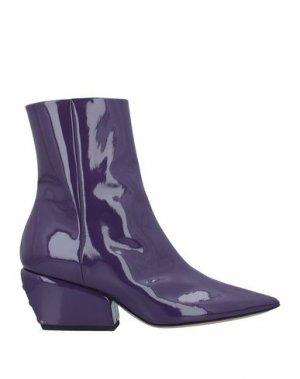 Полусапоги и высокие ботинки PETAR PETROV. Цвет: фиолетовый