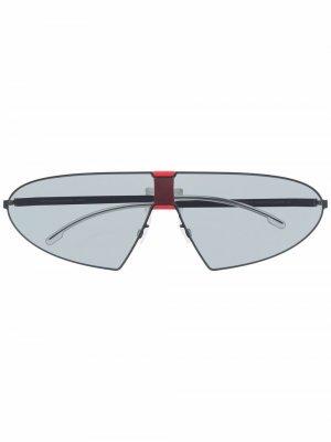 Солнцезащитные очки-авиаторы Karma Mykita. Цвет: синий