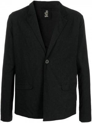 Однобортный пиджак прямого кроя Thom Krom. Цвет: черный