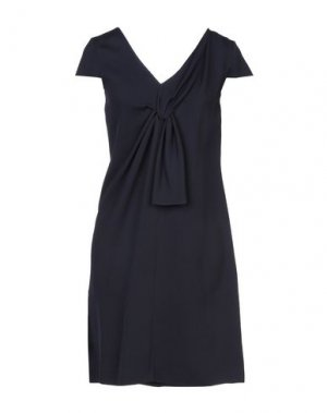Короткое платье LANVIN. Цвет: темно-синий