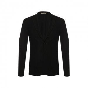 Кашемировый пиджак Bottega Veneta. Цвет: чёрный