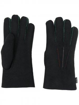 Перчатки с декоративной строчкой Paul Smith. Цвет: черный