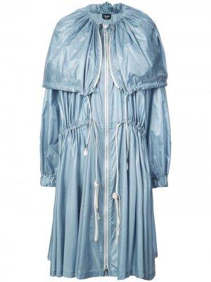 Плащ длины миди на завязках Calvin Klein 205W39nyc. Цвет: синий
