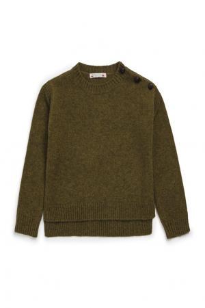 Пуловер зеленый Bonpoint. Цвет: зеленый
