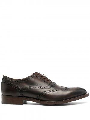 Броги на шнуровке Paul Smith. Цвет: коричневый