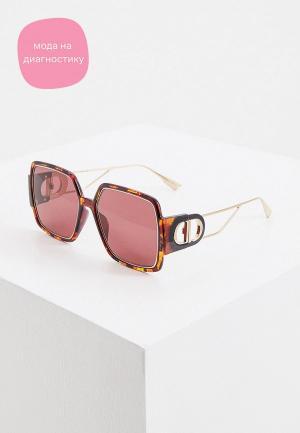 Очки солнцезащитные Christian Dior 30MONTAIGNE2 EPZ. Цвет: коричневый