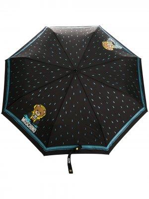 Зонт Bear с логотипом Moschino. Цвет: черный