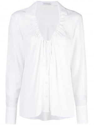 Блузка с присборенным воротником Altuzarra. Цвет: белый