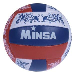 Мяч волейбольный minsa, 18 панелей, 2 подслоя, машинная сшивка, размер 5, 260 г MINSA