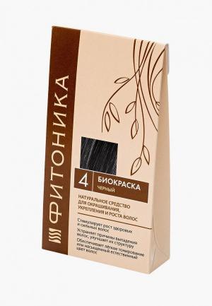 Краска для волос БиоБьюти Фитоника №4 черный 150 г. Цвет: черный
