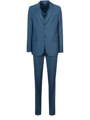 Классический костюм PRADA. Цвет: синий