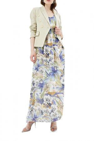 Платье Almatrichi. Цвет: голубой