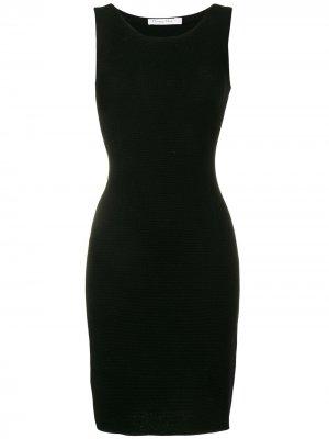 Фактурное платье миди Christian Dior. Цвет: черный