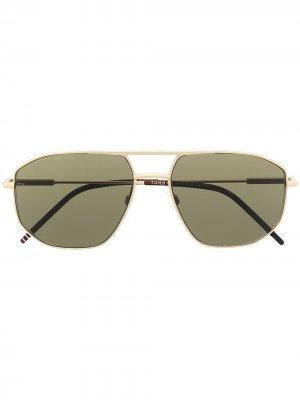 Солнцезащитные очки-авиаторы Tommy Hilfiger. Цвет: золотистый