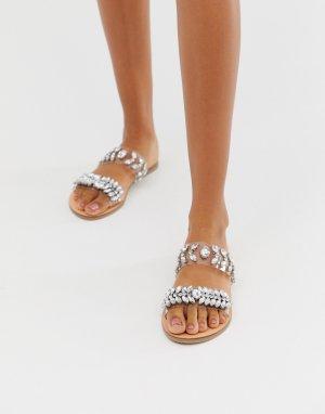 Прозрачные сандалии Accessorize. Цвет: очистить
