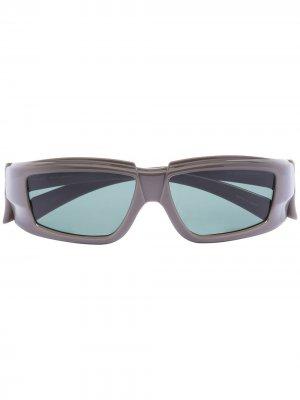 Солнцезащитные очки Larry Rick Owens. Цвет: серый