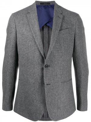 Приталенный пиджак с длинными рукавами Paul Smith. Цвет: серый