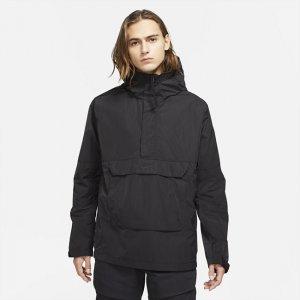Мужской анорак с капюшоном без подкладки Sportswear Premium Essentials - Черный Nike