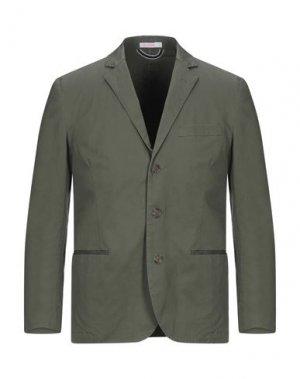 Пиджак SUN 68. Цвет: зеленый-милитари