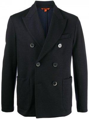 Двубортный пиджак строгого кроя Barena. Цвет: синий