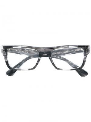 Очки в мраморной оправе Christian Roth Eyewear. Цвет: черный