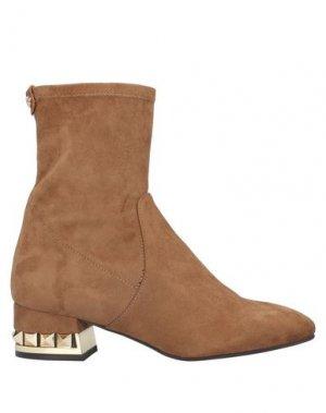 Полусапоги и высокие ботинки PEDRO MIRALLES. Цвет: верблюжий