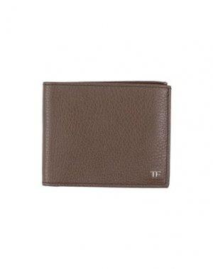 Бумажник TOM FORD. Цвет: коричневый