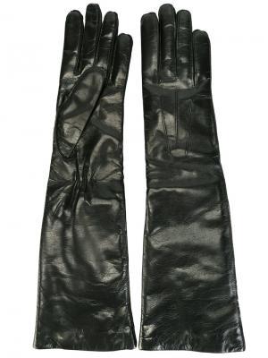 Удлиненные перчатки Ann Demeulemeester. Цвет: чёрный