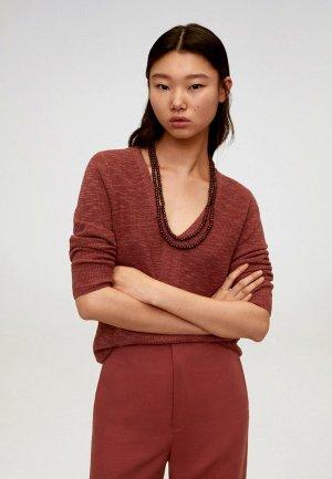 Пуловер Mango - SAETA. Цвет: коричневый