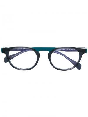 Round shaped glasses Face À. Цвет: черный