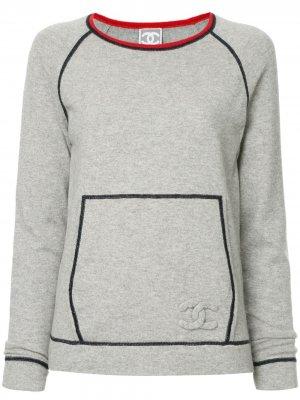 Спортивный топ Chanel Pre-Owned. Цвет: серый