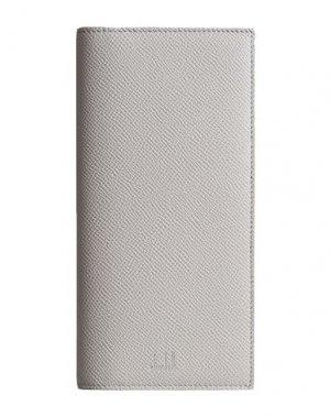 Бумажник DUNHILL. Цвет: светло-серый