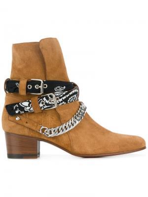 Ботинки с банданой и пряжкой Amiri