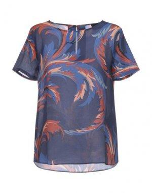 Блузка ATOS LOMBARDINI. Цвет: темно-синий
