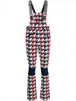 Лыжные брюки Isola с шевронным принтом Perfect Moment. Цвет: белый