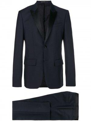 Костюм классического кроя с контрастными лацканами Givenchy. Цвет: синий