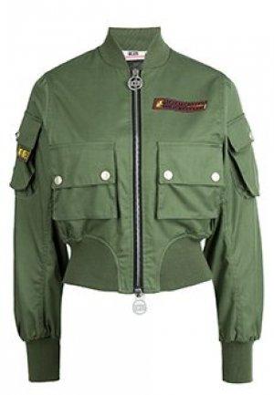 Бомбер GCDS. Цвет: зеленый