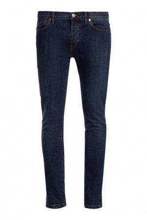 Зауженные синие джинсы Valentino. Цвет: синий