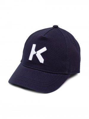 Бейсболка с вышивкой Kenzo K Kids. Цвет: синий