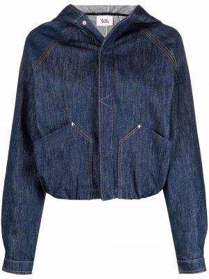 Джинсовая куртка с капюшоном Vejas. Цвет: синий
