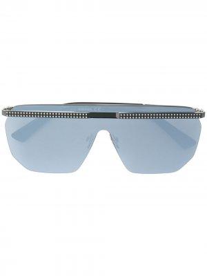 Крупные солнцезащитные очки Diesel. Цвет: черный