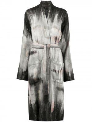 Пальто с поясом Avant Toi. Цвет: черный